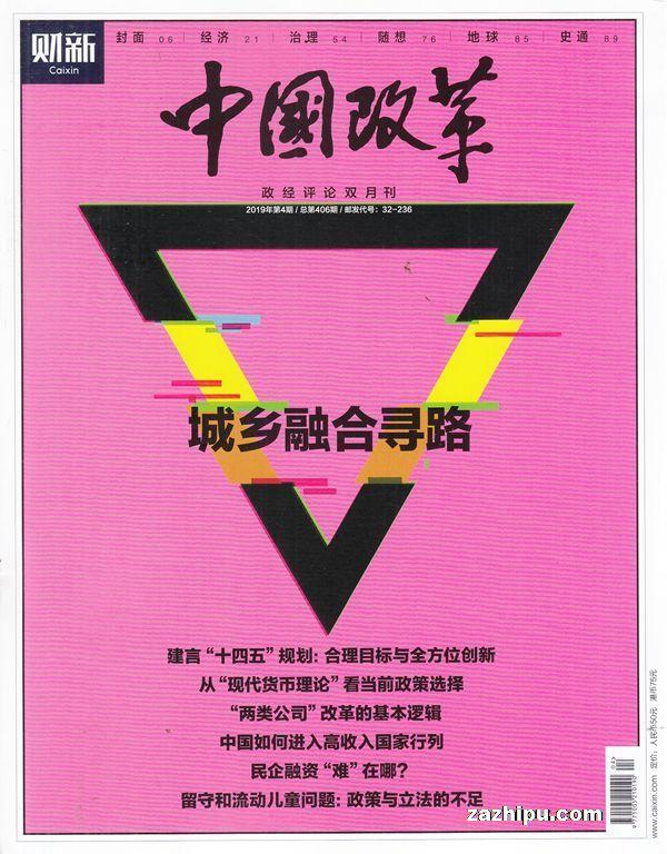 中国改革2019年7月期