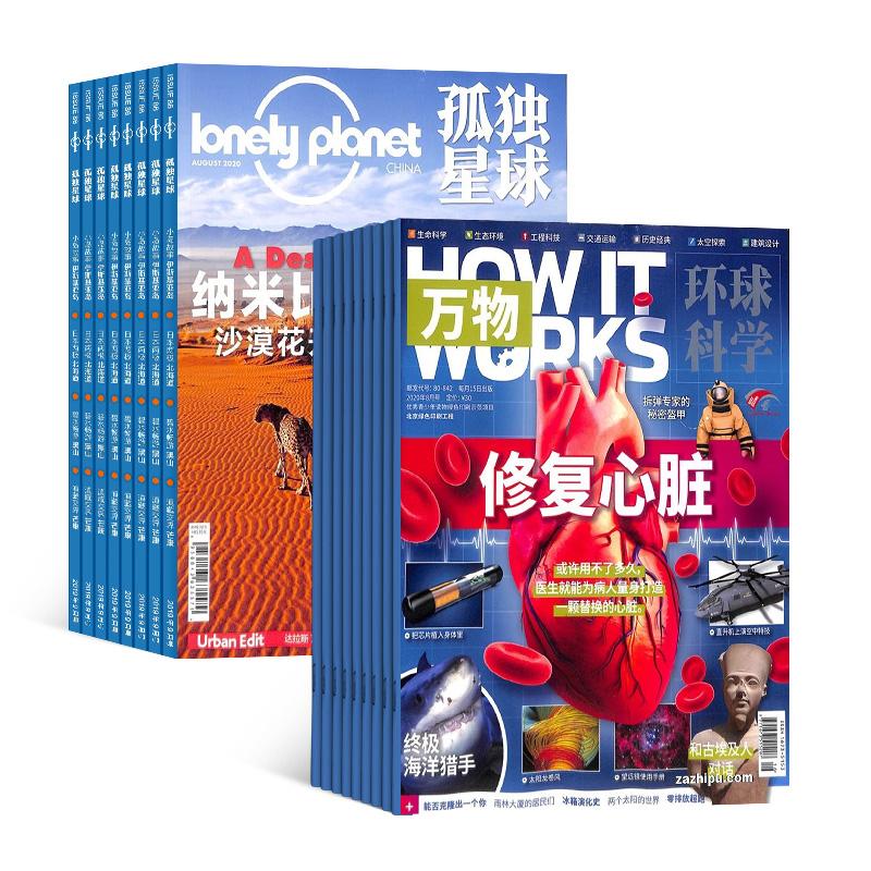 万物(带音频)(1年共12期)+孤独星球(1年共12期)(杂志订阅) 两刊组合订阅