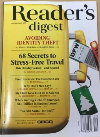 �x者文摘】美��版 Reader s Digest(US)(英�Z)(1年共10期)(�s�I��)