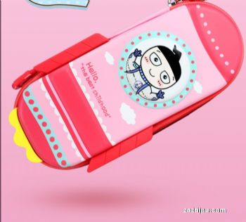 米小圈笔袋 帆布笔袋 文具盒探索之旅博学号粉色